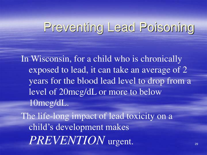 Preventing Lead Poisoning