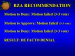 bza recommendation