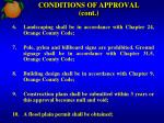 conditions of approval cont