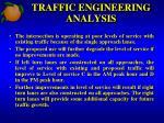 traffic engineering analysis