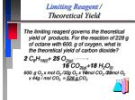 limiting reagent theoretical yield