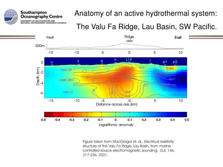 Anatomy of an active hydrothermal system:
