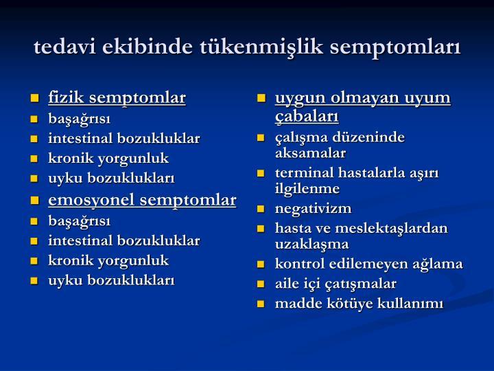 fizik semptomlar