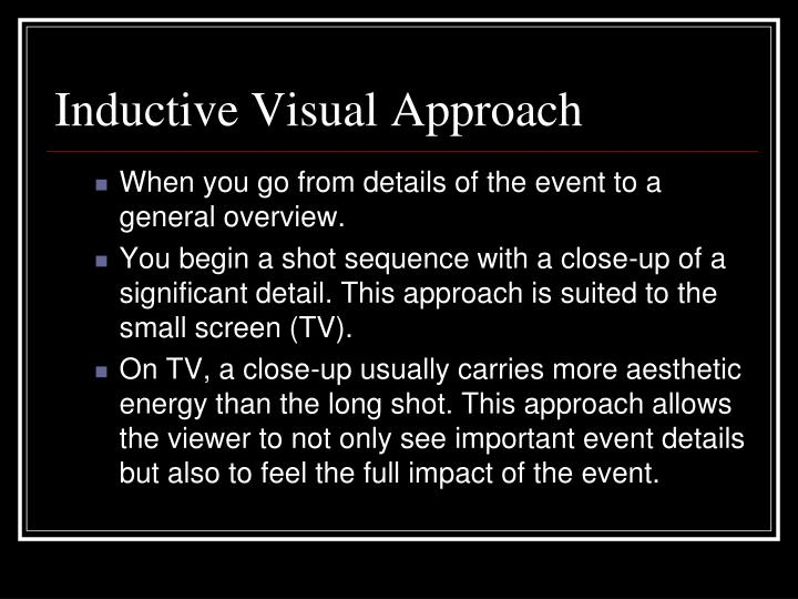 Inductive Visual Approach