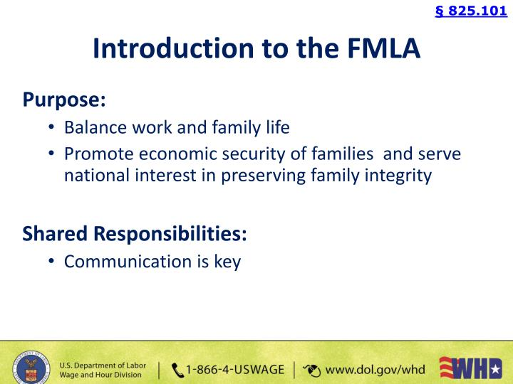the family and medical leave act fmla essay Business essays: family and medical leave act family and medical leave act (fmla) provides employees job protection in case of family or medical emergency fmla.