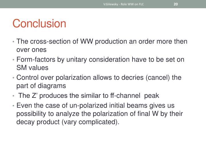 V.Gilewsky - Role WW on FLC