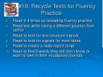 10 recycle texts for fluency practice1
