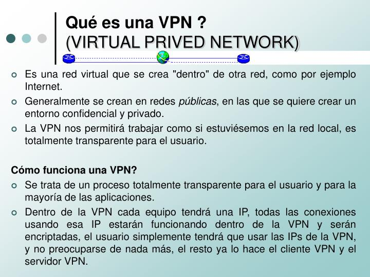 Qu es una vpn virtual prived network