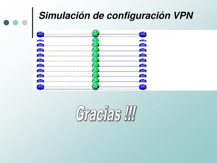 Simulación de configuración VPN