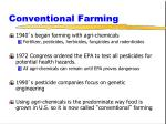 conventional farming