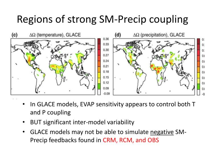 Regions of strong SM-Precip coupling