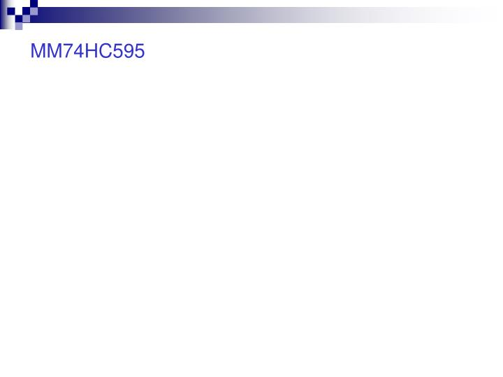 MM74HC595