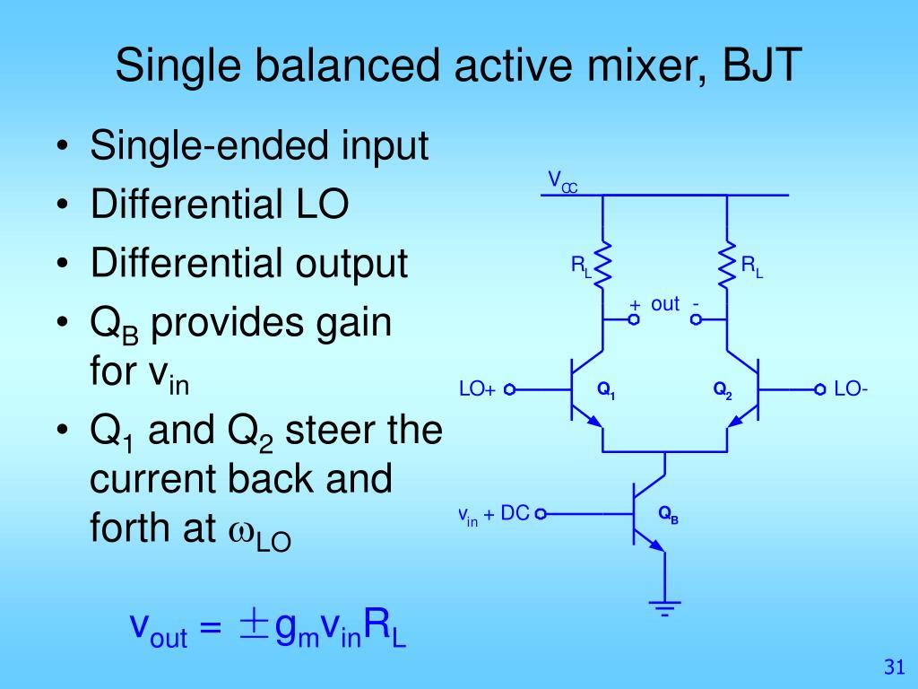 PPT - Mixer Design PowerPoint Presentation - ID:5857068
