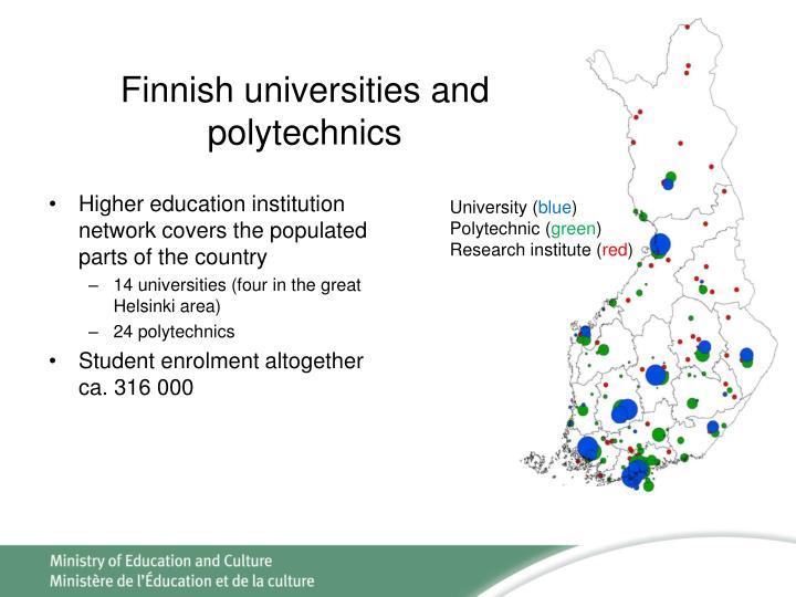 Finnish universities and