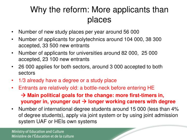 Why the reform: More