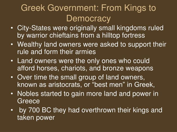 Greek Government: From Kings to Democracy
