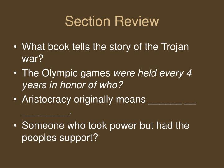 Section Review