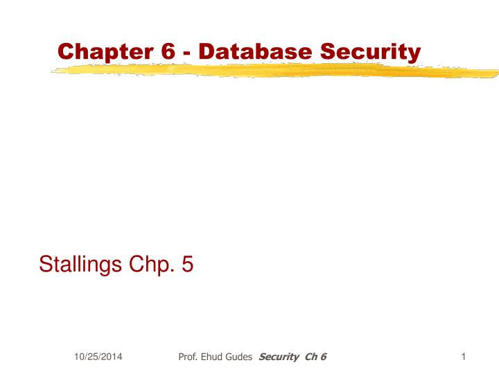 Chapter 6 database security