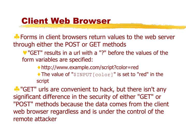 Client Web Browser