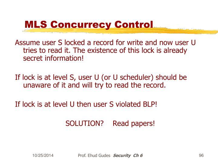 MLS Concurrecy Control