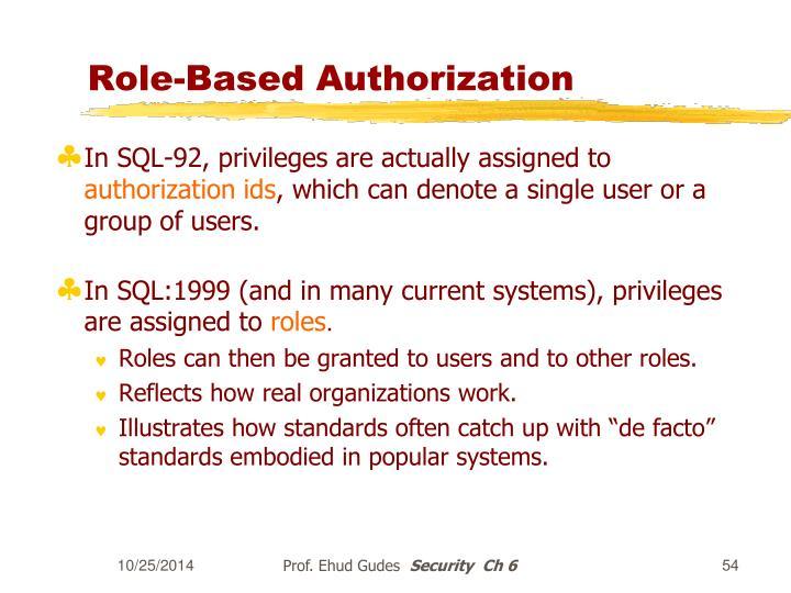 Role-Based Authorization