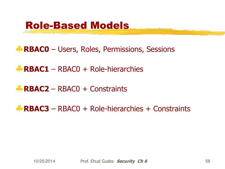 Role-Based Models