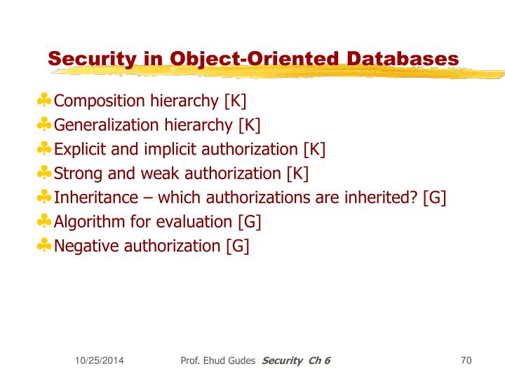 Security in Object-Oriented Databases