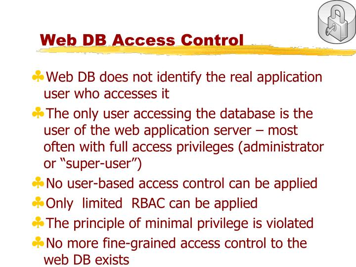 Web DB Access Control