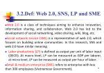 3 2 def web 2 0 sns lp and sme