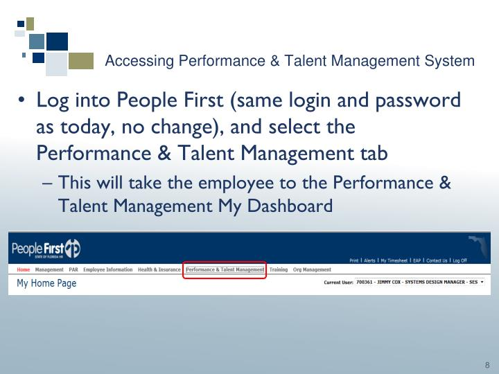 Accessing Performance & Talent Management System