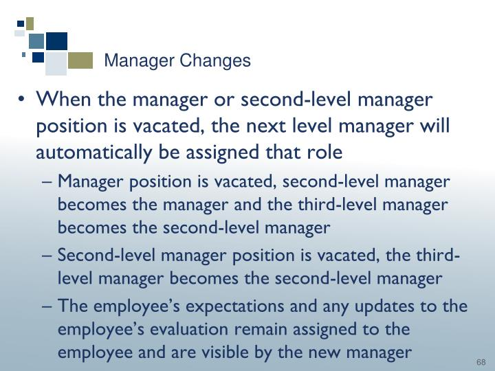 Manager Changes