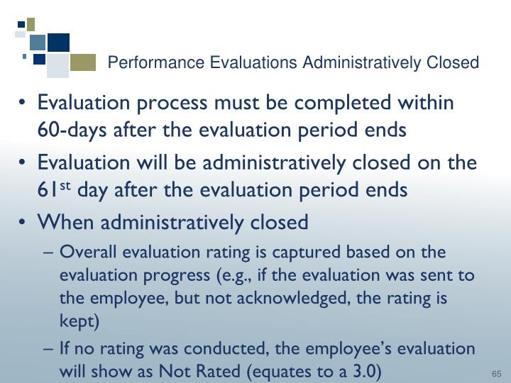 Performance Evaluations Administratively Closed