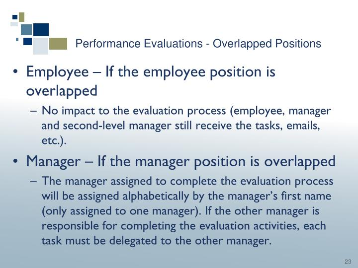 Performance Evaluations - Overlapped Positions