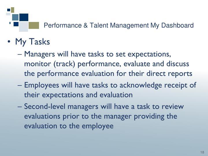 Performance & Talent Management My Dashboard