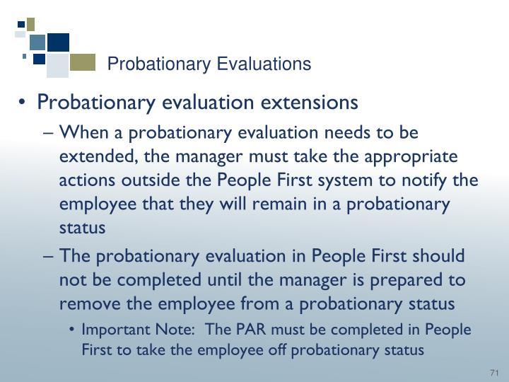 Probationary Evaluations