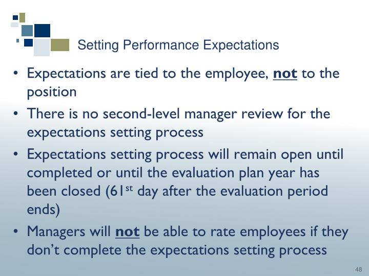 Setting Performance Expectations
