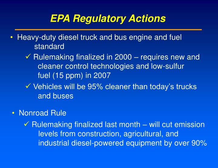 EPA Regulatory Actions