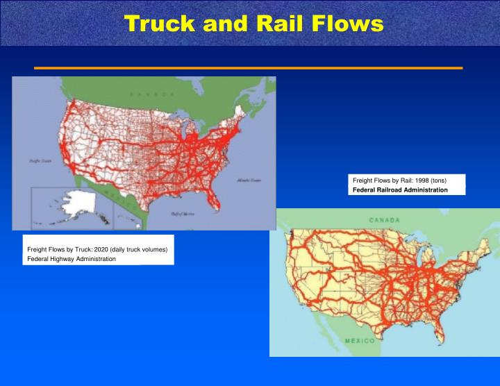 Truck and Rail Flows