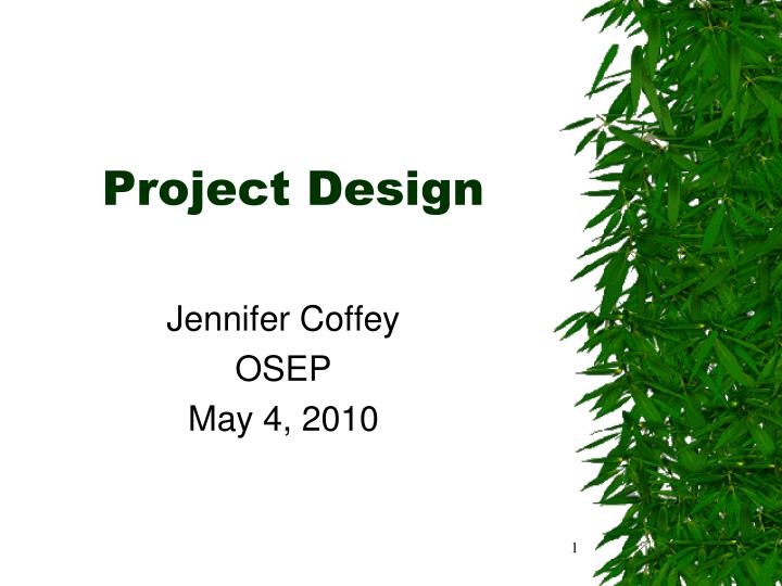 project design n.