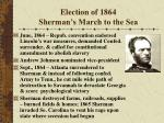 election of 1864 sherman s march to the sea