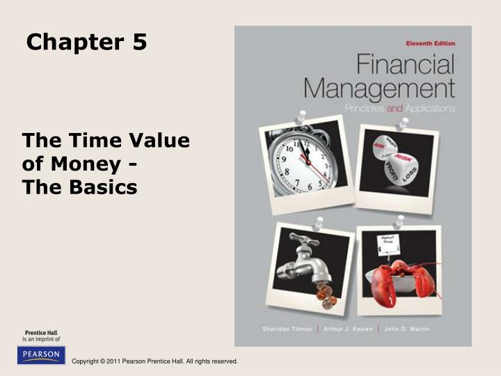 the time value of money the basics n.