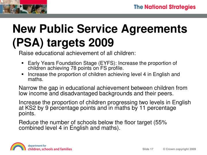 New Public Service Agreements
