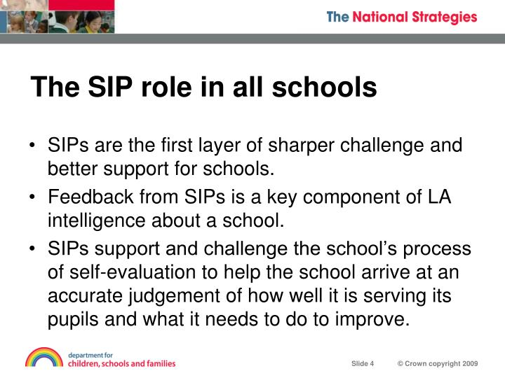 The SIP role in all schools