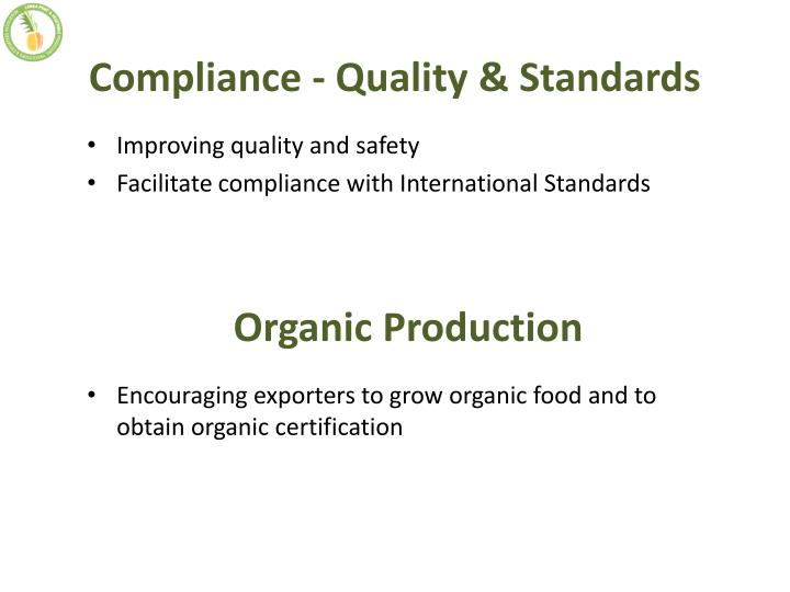 Compliance - Quality & Standards