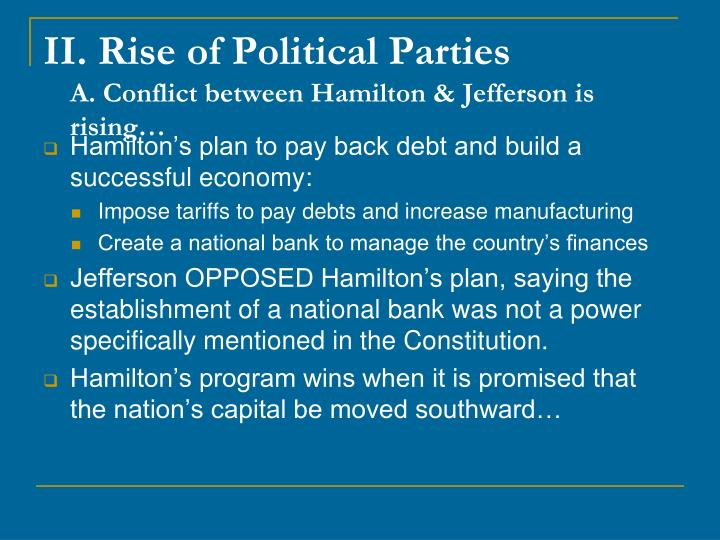 II. Rise of Political Parties