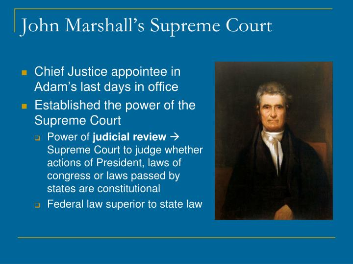 John Marshall's Supreme Court