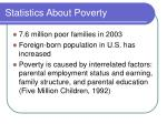 statistics about poverty