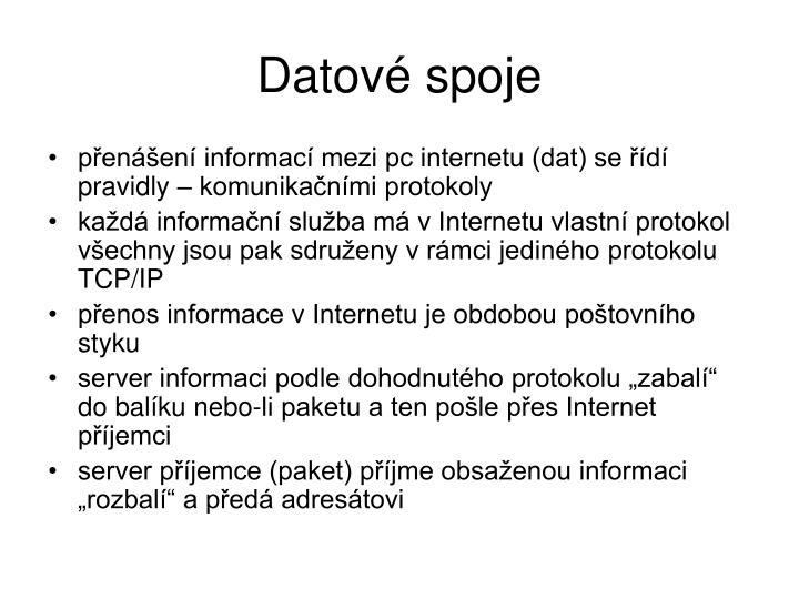 Datové spoje