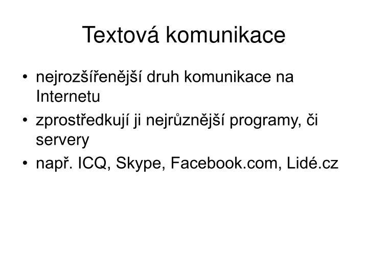 Textová komunikace
