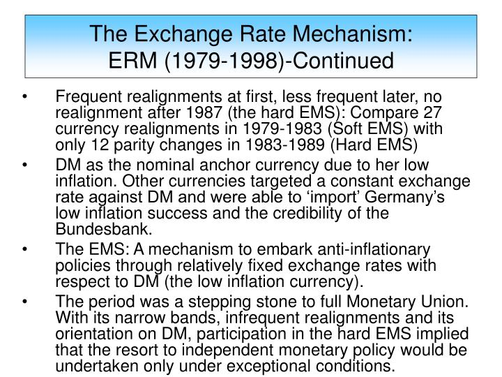 account of the exchange rate mechanism erm crisis of 1992 93 Exchange rate mechanism is a means of determining and stabilizing exchange rates by restricting how much the value of currency can change one of the largest exchange rate mechanisms was the european exchange rate mechanism (erm), part of the european monetary system (ems.